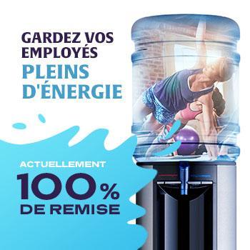 Fontaine à eau : 3 mois offerts